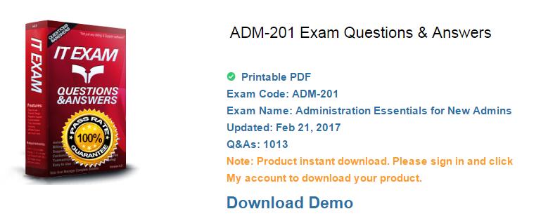 ADM-201 exam