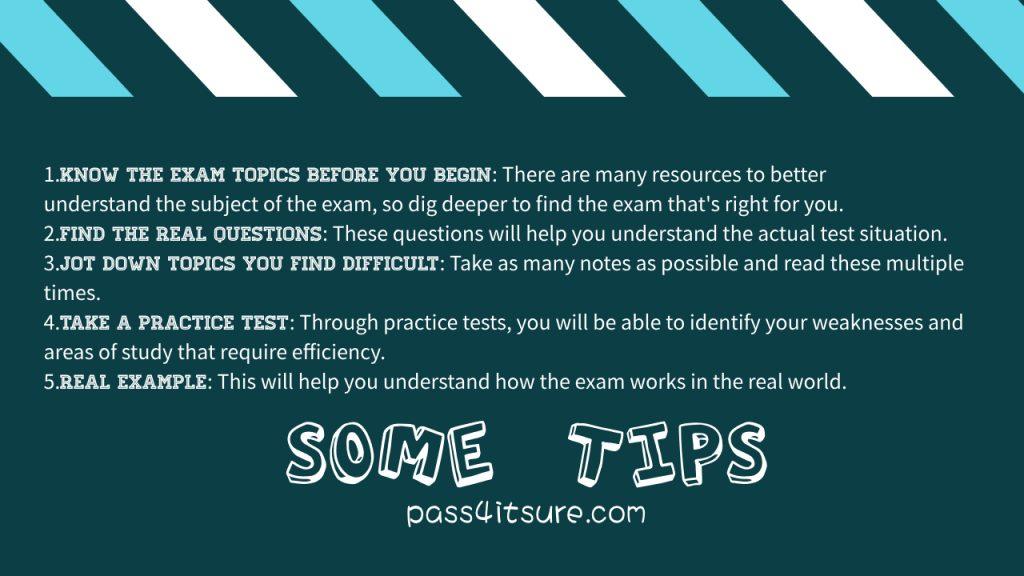 Pass4itsure tips